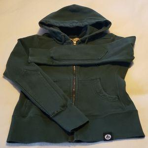 Dark green American Giant zipper hoodie